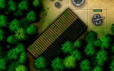 """वीडियो गेम """"iBomber Defence Pacific"""" में कोकोदा ट्रैक अभियान स्तर में माध्यमिक उद्देश्य लक्ष्य भवन का स्क्रीनशॉट।"""