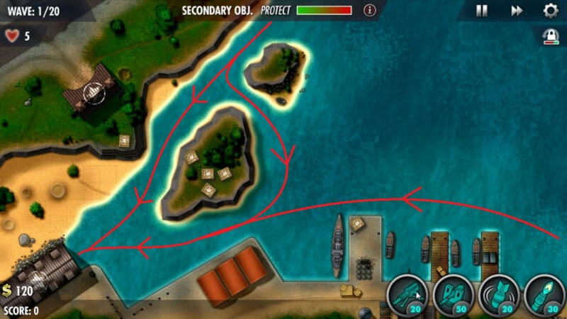 """iBomber Defense Pacific"" - Campaign Mission 05 - ""Midway Atoll"" (1)"